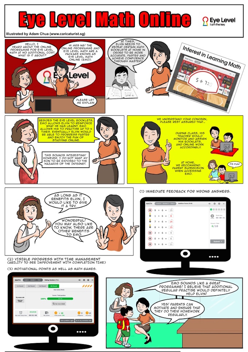 Eye Level Math Online Comic - Math and English Enrichment Class ...